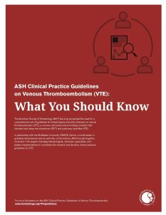 VTE Guidelines: What You Should Know